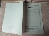 MY HERO  SEGA  original arcade video game manual
