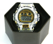 New Very Rare Casio G-Shock White GD-X6900FB Transparent Strap Digital Watch