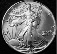 1988 American Silver Eagle BU 1 oz Coin US $1 Dollar Mint Brilliant Uncirculated