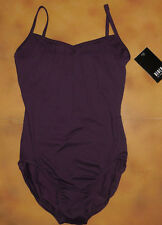 NWT Dance Bloch Purple Camisole Leotard Pin Tuck Front Ladies Sml Adult L2550
