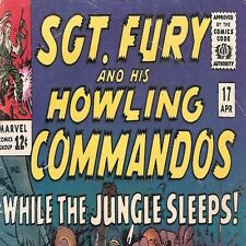 1965 Marvel Comic # 17 ~ Sgt Nick Fury & His Howling Commandos ~ Silver Age