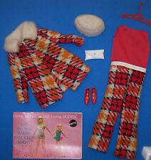 Vintage Sears Exclusive Talking Barbie Doll #1193 Perfectly Plaid Gift Set 1971