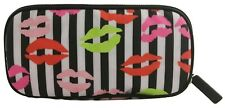Lulu Guinness Lip Blot Brush Bag Make Up Case Travel Pouch Black & White