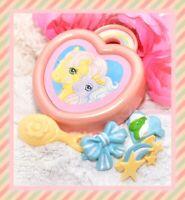 ❤️My Little Pony G1 VTG Trinket Box Hair Barrette Case 3 Clips Jewellery Set❤️