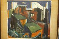 Italian Painting Oil on wood Mario Tornello Still life expressionism 1900