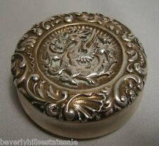 Antique Gorham Sterling Silver Griffin Repousse Box