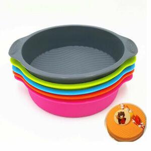 Large Round 23 cm Silicone Cake Mould Tray Non Stick Baking Tin Pan Bakeware