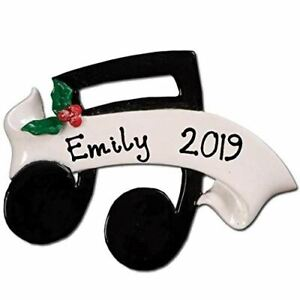 """Personalized """" Music Note  """" Christmas Hanging Tree Ornament HOLIDAY GIFT 2020"""