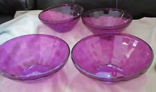 NEW SMALL PURPLE TUPPERWARE CEREAL/SALAD  BOWL SET-ICE PRISMS 500 ML-ACRYLIC