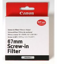 Top Canon 67mm UV Filter *New*