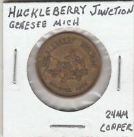 (U)  Token - Genesee, MI - Huckleberry Junction - 24 MM Copper