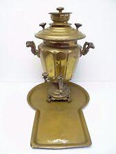 Rare Russian Samovar Antique Brass Single Eagle 1889 Brothers Vorontsou Old