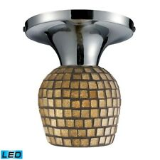 ELK Lighting Celina 1-Light Semi Flush, Chrome/Gold, LED - 10152-1PC-GLD-LED