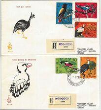63013 - SOMALIA - POSTAL HISTORY - 2 FDC COVER  Scott # 287/91  1966  BIRDS