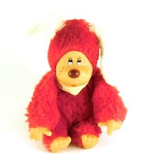Thumb Sucking Suck Monkey Vintage in Red w/ White Ears Dog Suit