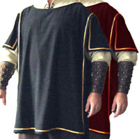 Men Medieval Renaissance Gothic Casual Shirt Top Cosplay Costume Fancy Dress Top