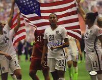 Christen Press autographed signed US Soccer 2015 World Cup Champ 11x14 photo JSA