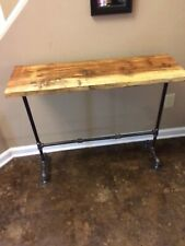 Reclaimed Wood Side Table / Console Table Rustic Entryway Hall