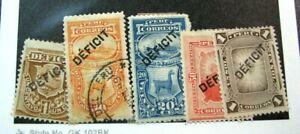 Peru  Stamp Scott# J28,J30 Used,J31-J33 Postage Due 1914-35 MH #30 is used L446