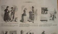 PP 040 CARICATURE 1852 Pl de 9 Vignettes dont 3 sur la JUSTICE AVOCAT