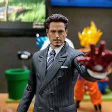 Iron Man Tony Stark 1/12 Head Sculpt SHFMK4 Figure Fit SHF 6'' Action Toys