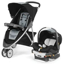 Chicco Viaro 3 Wheel Travel System Stroller w/ KeyFit 30 Car Seat Techna New