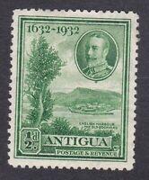 Antigua KGV - 1932 - 1/2d Tercentenary - Green - SG81 - Mint Hinged (E21A)