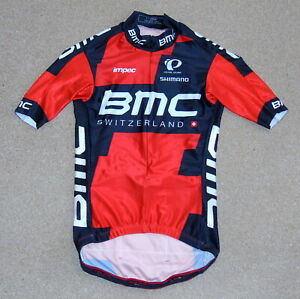 """RIDER-ISSUED TEAM BMC SPEED JERSEY. PEARL IZUMI SMALL UP TO 34"""" CHEST"""