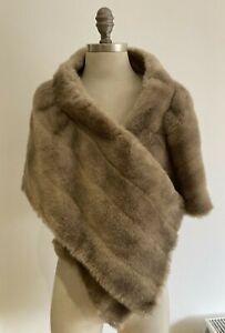 True Vintage 1950s Faux Fur Stole/Wrap/Shawl - Great for Vintage Event!