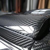 6D Super Gloss Carbon Fiber Vinylfolie Wrap Bubble Freiluftfreigabe 30*152cm de