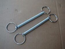 PAIR - 50's 60's GM BUMPER JACK HOLD-DOWN SPRINGS PONTIAC CHEVY BUICK OLDSMOBILE