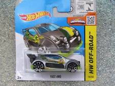 Hot Wheels 2015 # 076/250 Fast 4wd Silver Over Verde HW todoterreno Funda C