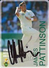 ✺Signed✺ 2014 2015 AUSTRALIAN Cricket Card JAMES PATTINSON Big Bash League