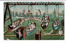 CPA-Carte postale- BELGIQUE - Fantaisie - Balançoire à Bébés-1908 S4194