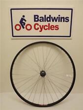 700c REAR Hybrid Bike Wheel - Quick Release - BLACK - SCREW ON Alloy Hub