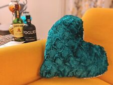 DaDa Bedding Hand-Made Irish Green Heart Shaped Throw Pillow for St Patricks Day
