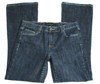 Women's Size 8 Calvin Klein Flare Jeans Stretch Dark Wash Blue Inseam 29½