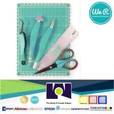 We R Memory Keepers Mini Tool Kit Knife Mat Ruler Tweezers Brad Setter Piercer