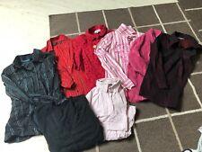 Kleiderpaket 38 M Bluse Hemd Cecil Zara HM Streifen Cardigan Rot Pink