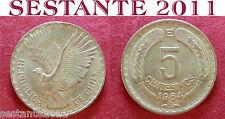 B31 CHILE CILE 5  CENTESIMOS CENTESIMI 1964 KM# 190