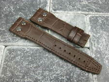 22mm GATOR Grain Leather Rivet Strap Watch band for BIG PILOT Brown