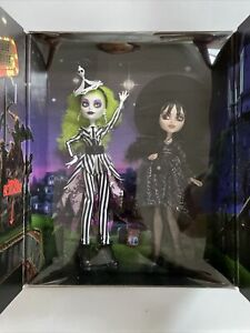 Mattel Creations Monster High Beetlejuice & Lydia Limited Edition Exclusive Set