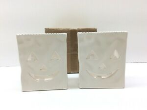 Bisque Imports Jack-O-Lantern Votive Bag Ceramic Bisque Ready To Paint 2 Pack