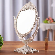 Double Side Vanity Mirror Oval Table Ornate Freestanding Make up Dressing Giftuk