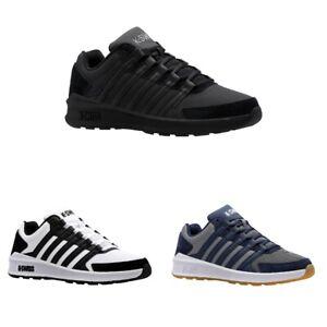 K-Swiss Vista Trainer Herren Sneaker | Turnschuh | Sportschuh | Leder, Textil -
