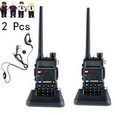2x Baofeng UV-5R doble banda CTCSS FM Ham Walkie Talkie Dos Vías De Radio Transmisor