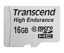 16 Go Carte Micro SDHC Transcend Haute Endurance CL10 avec Adaptateur SD