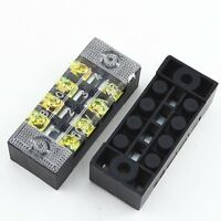 10Pcs 600V 15A 4 Positions Barrier Strip Terminal Block Wire connector TB-1504