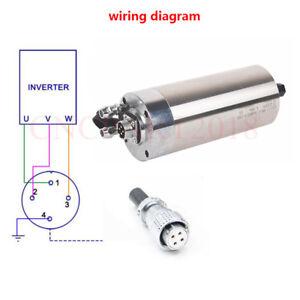 1.2KW 60000rpm Spindle Motor ER11 Water-cooling 1000Hz 220V Engraving Machine