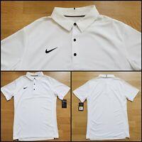 Nike Dri-Fit Sideline Elite Golf Polo 845830-103 Mens Small/Medium/Large White